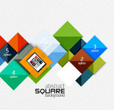 Geometric square shapes and infographic option Stock Photography