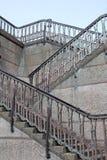 Geometric stair and railings. Geometric steps and geometric railings stock image