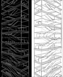 Geometric Staircase Of High Building Vector Stock Photos