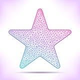 Geometric star. Royalty Free Stock Photography