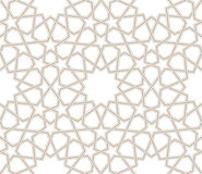 Geometric star pattern grey lines with white background. Islamic geometric star Vector pattern grey lines with white background stock illustration