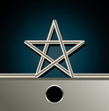 Geometric star Royalty Free Stock Image