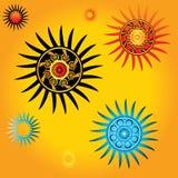 Geometric star shapes vectors Royalty Free Stock Photo