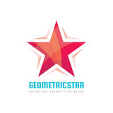 Geometric star - vector logo template concept illustration. Abstract shape design element Royalty Free Stock Image