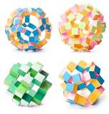 Geometric stars. Handmade paper origami geometric stars Stock Photos