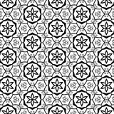 Geometric Stars Ornate Swirls Flourishes Celtic Tribal Leaf Leaves Floral Flower Petals Trendy Black Line Design Stock Image