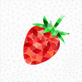 Geometric strawberry. Abstract geometric triangled red strawberry Royalty Free Stock Images