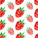 Geometric strawberry pattern. Abstract geometric red strawberry. Seamless endless texture pattern background Vector Illustration