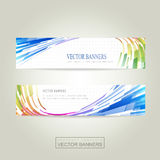 Geometric streamlined background banner Royalty Free Stock Image