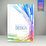 Geometric streamlined background brochure Royalty Free Stock Photo
