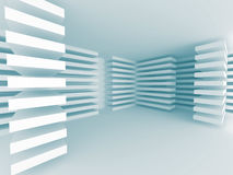 Geometric Stripe Pattern Design Architecture Background. 3d Render Illustration Royalty Free Stock Photography