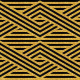 Geometric striped ornament Royalty Free Stock Images