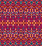 Geometric striped seamless tribal pattern. Ethnic festive pattern for fabric. Abstract geometric colorful vintage seamless pattern ornamental Royalty Free Stock Photos