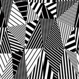 Geometric stripy seamless pattern. Royalty Free Stock Photography