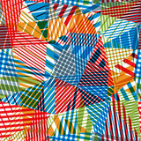 Geometric stripy seamless pattern. Royalty Free Stock Photo