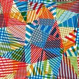 Geometric stripy seamless pattern. Royalty Free Stock Photo