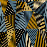 Geometric stripy seamless pattern. Stock Photos