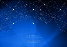 Geometric structure. The link elements in a single network. Cool shades of colors stock illustration