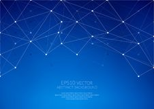 Geometric structure. The link elements in a single network. Stock Images