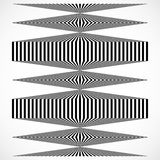 Geometric structure of vertical lines, stripes. Abstract monochr. Ome element - Royalty free vector illustration Royalty Free Stock Photos