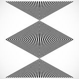 Geometric structure of vertical lines, stripes. Abstract monochr. Ome element - Royalty free vector illustration Stock Images