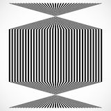 Geometric structure of vertical lines, stripes. Abstract monochr. Ome element - Royalty free vector illustration Royalty Free Stock Images