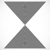 Geometric structure of vertical lines, stripes. Abstract monochr Royalty Free Stock Photography