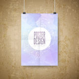 Geometric style background design poster Stock Image