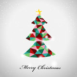 Geometric style colorful Christmas tree Stock Image
