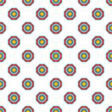 Geometric style flower seamless simple indian vector pattern. Royalty Free Stock Photos