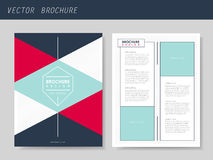 Geometric style flyer template for business Royalty Free Stock Photo