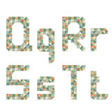 Geometric style font, colorful vector letters. Stock Photography