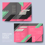 Geometric style half-fold template brochure Royalty Free Stock Image