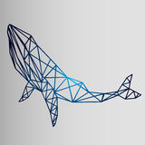Geometric style - sketch of a whale Stock Photo
