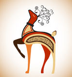 Geometric stylized deer Royalty Free Stock Images