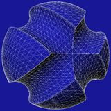 Geometric Subtraction Of Blue Sphere And Two Torus Vector Royalty Free Stock Photos