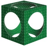 Geometric Subtraction Of Cube And Sphere Vector Stock Photo
