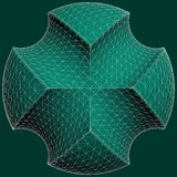 Geometric Subtraction Of Green Sphere And Two Torus Vector Royalty Free Stock Photography