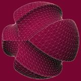 Geometric Subtraction Of Red Sphere And Two Torus Vector Stock Photos