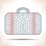 Geometric suitcase. Royalty Free Stock Images