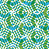 Geometric symmetric lined seamless pattern, colorful vector Stock Photos