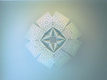Geometric symmetry ornamental flower. Abstract 3D geometric symmetry ornamental crystal flower decoration Stock Photos