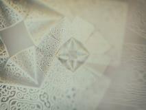 Geometric symmetry ornamental flower. Abstract 3D geometric symmetry ornamental crystal flower decoration royalty free illustration