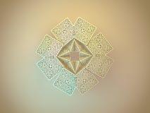 Geometric symmetry ornamental flower. Abstract 3D geometric symmetry ornamental crystal flower decoration Stock Image