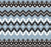 Geometric tartan knitwear pattern, winter christmas background, card. Scheme for cross-stitch and crochet. Traditional nordic ornament knit and embroidery stock illustration