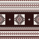 Geometric textile pattern in ethnic style Royalty Free Stock Photos