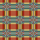 Geometric textile seamless pattern. Stock Images