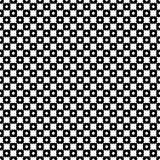 Geometric texture, abstract backdrop with circles, crosses. Vector monochrome seamless pattern. Black & white geometric texture. Modern stylish background Stock Illustration
