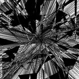 Geometric texture with edgy motif. Abstract shattered, rough pat Stock Photo
