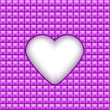 Geometric texture with heart in a center. Vector Royalty Free Stock Image